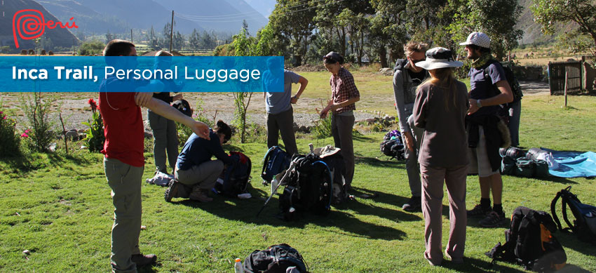 personal luggage inca trail