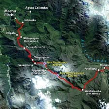 Inca Trail Detailed Map