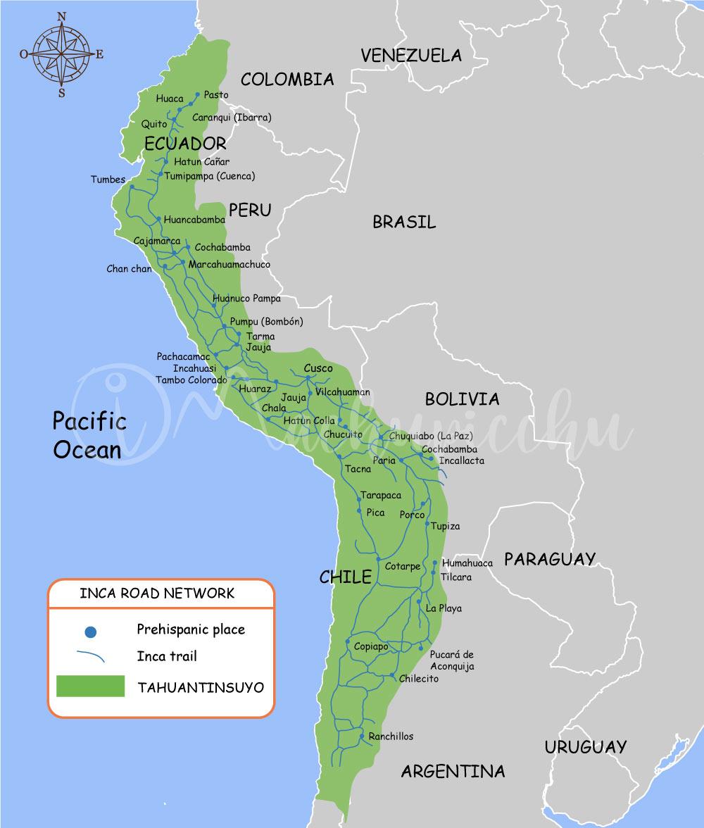 Mapa Camino Inca