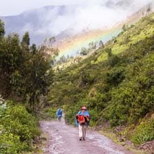 The rains on the Inca Trail
